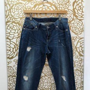 Rock & Republic Slim Fit Distressed Crop Jeans